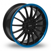 Team Dynamics Jet Black Blue Alloy Wheels