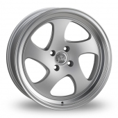 Junk D3KAY Silver Polished Lip Alloy Wheels