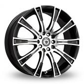 Konig Crown Black Polished Alloy Wheels