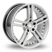 Team Dynamics Le Mans Hi Power Silver Alloy Wheels