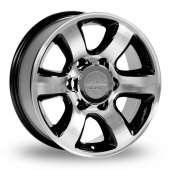 Lenso PTB Black Polished Alloy Wheels