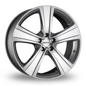 MAK F5 Silver Alloy Wheels