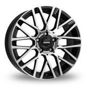 Momo Revenge Evo Black Polished Alloy Wheels