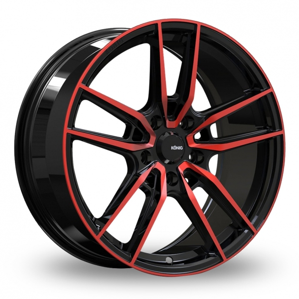 Konig Myth Gloss Black W/ Red Tinted Clearcoat