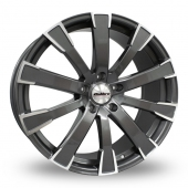 Calibre Manhattan Gun Metal Polished Alloy Wheels
