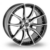 Mania Racing Mayfair Black Polished Alloy Wheels