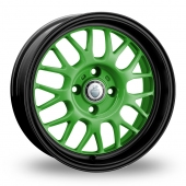 Cades Monsteros Green Alloy Wheels