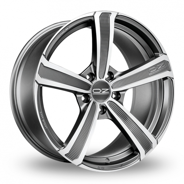 "Picture of 19"" OZ Racing Montecarlo HLT Matt Graphite Wider Rear"