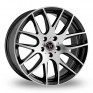 20 Inch Wolfrace Munich (Special Offer) Gloss Black Polished Face Alloy Wheels