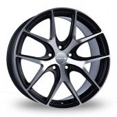 Novus 1 Black Polished Alloy Wheels
