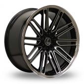 Lenso OP7 Black Polished Alloy Wheels