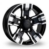 Hawke Osprey Black Polished Alloy Wheels