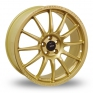 17 Inch Team Dynamics Pro Race 1 2 Gold Alloy Wheels