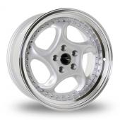 Dare River R-6 Silver Polished Lip Alloy Wheels