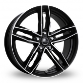 Rosso RR8 Matt Black Alloy Wheels