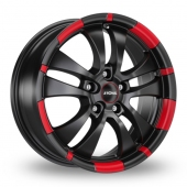Ronal R59 Black Red Alloy Wheels
