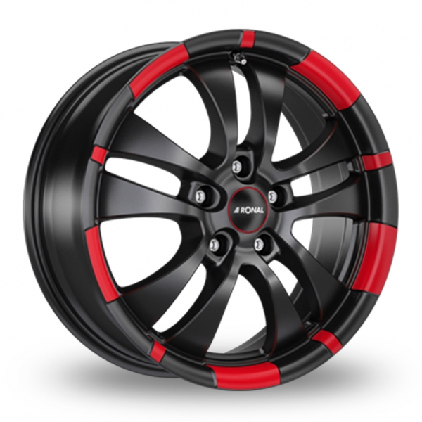 "Picture of 18"" Ronal R59 MCR Black/Red"