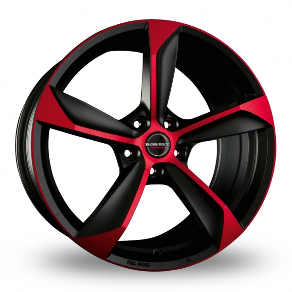 "Picture of 19"" Borbet S Black Red Matt"