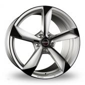 Borbet S Silver Black Glossy Alloy Wheels
