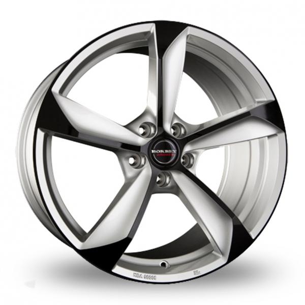 Borbet S Silver Black Glossy