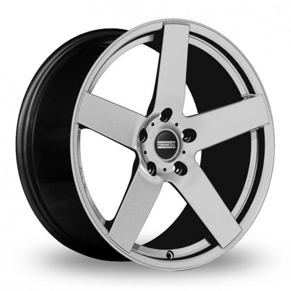 """22"""" Fondmetal STC-02 Silver Wider Rear Alloy Wheels"""