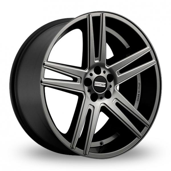 """20"""" Fondmetal STC-05F Titanium Milled Wider Rear Alloy Wheels"""