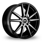 Fondmetal STC-10 Black Polished Alloy Wheels