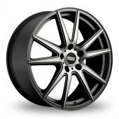 Fondmetal STC-10 Matt Titanium Polished Alloy Wheels