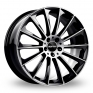 8x18 (Front) & 9x18 (Rear) GMP Italia Stellar Black Polished Alloy Wheels