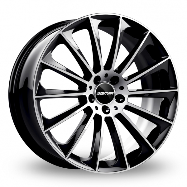 """22"""" GMP Italia Stellar Black/Polished Wider Rear Alloy Wheels"""