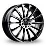 22 Inch GMP Italia Stellar Black Polished Alloy Wheels