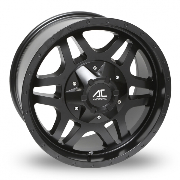 18 Inch AC Wheels Savage Matt Black Alloy Wheels