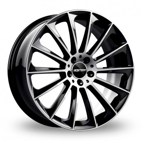 """20"""" GMP Italia Stellar Black/Polished Wider Rear Alloy Wheels"""