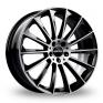 8.5x20 (Front) & 9.5x20 (Rear) GMP Italia Stellar Black Polished Alloy Wheels