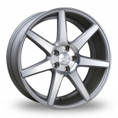 Judd T204 Silver Polished Face Alloy Wheels