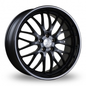 Judd T213 Matt Black Gloss Black Lip Alloy Wheels