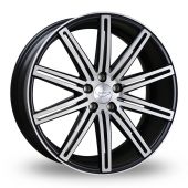 Judd T225 Black Polished Alloy Wheels