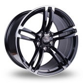 Targa TG1 Wider Rear Black Polished Alloy Wheels