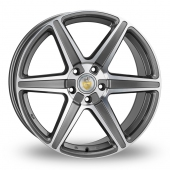 Cades Thor Gun Metal Polished Alloy Wheels