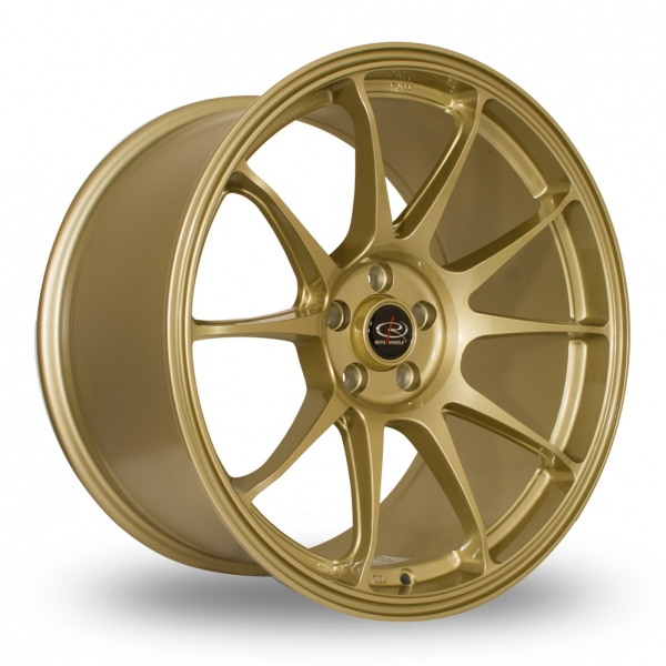 "Picture of 18"" Rota Titan Gold Wider Rear"