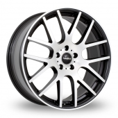 SuperMetal Trident Black Polished Alloy Wheels