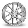 8.5x19 (Front) & 9.5x19 (Rear) VEEMANN V-FS23 Silver Polished Alloy Wheels