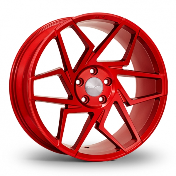 8.5x19 (Front) & 9.5x19 (Rear) VEEMANN V-FS27R Candy Red Alloy Wheels
