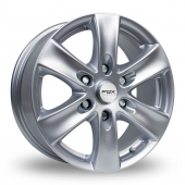 Fox Racing Viper Van 2 Silver Alloy Wheels