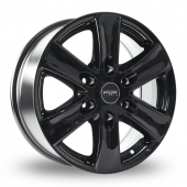 Fox Racing Viper Van 2 Gloss Black Alloy Wheels