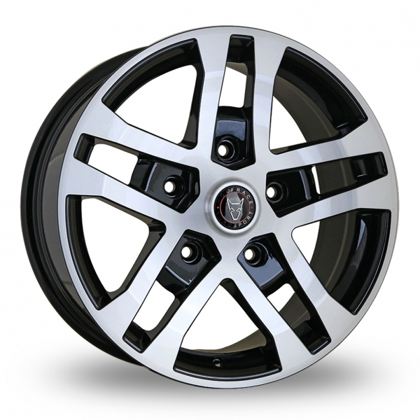 "Picture of 18"" Wolfrace FTR Black/Polished Face"