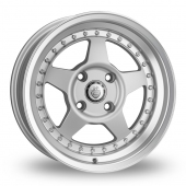 Cades Blast Silver Polished Lip Alloy Wheels