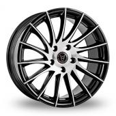 Wolfrace Aero Black Polished Alloy Wheels