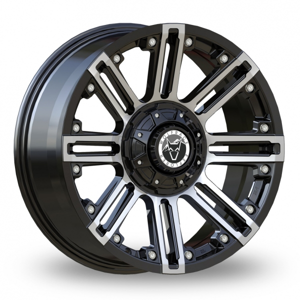 20 Inch Wolfrace Amazon Gloss Black/Polished Alloy Wheels