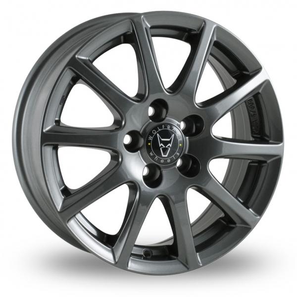 "15"" Wolfrace Milano Titanium Alloy Wheels"